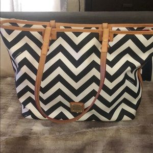 Authentic Dooney and Bourke large Chevron Tote